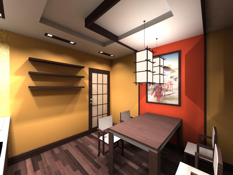 Кухня в японском стиле: дизайн и 9 фотографий