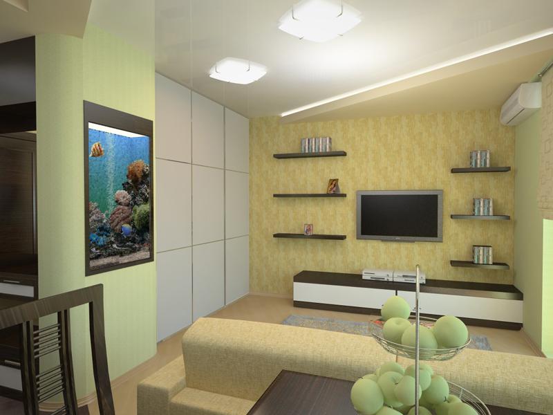 Фотография маленькой гостиной