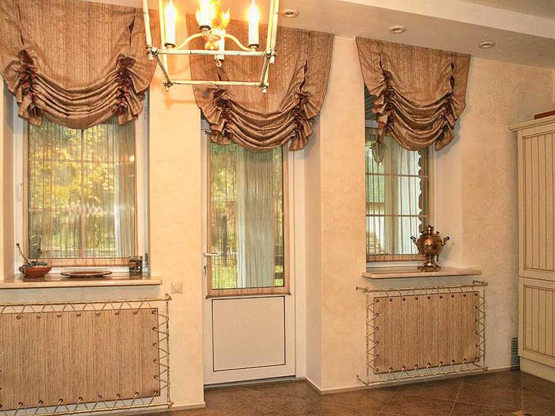 Дизайн интерьера с австрийскими шторами