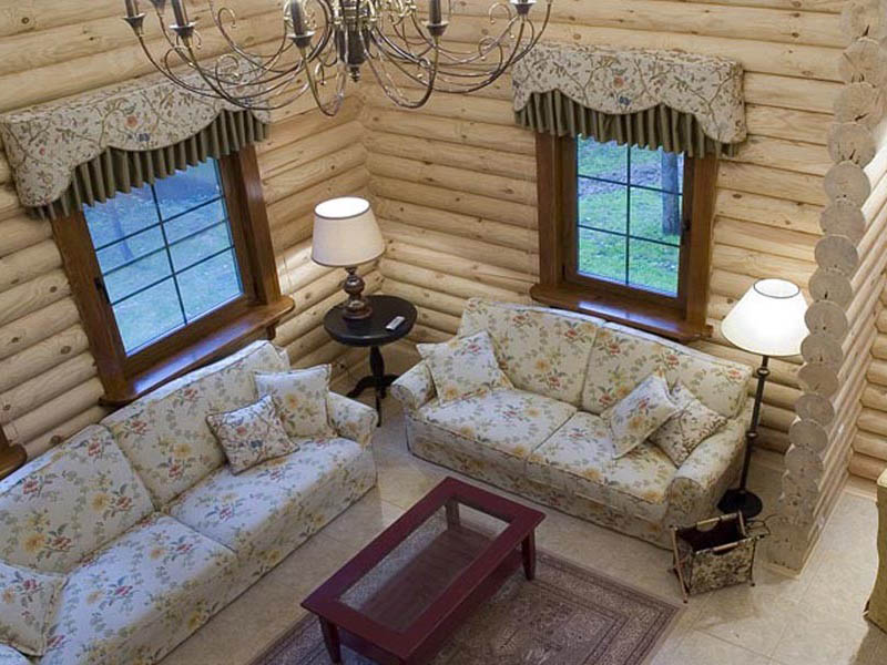 Деревянный дом - внутреннее оформление