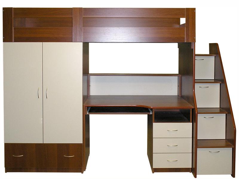 Кровать-чердак - кровать и стол