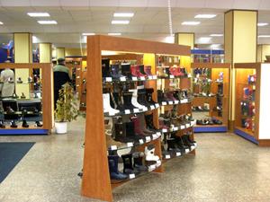 Мебель и оборудование для обувных магазинов
