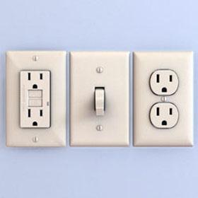 Услуги электрика по монтажу выключателей и розеток