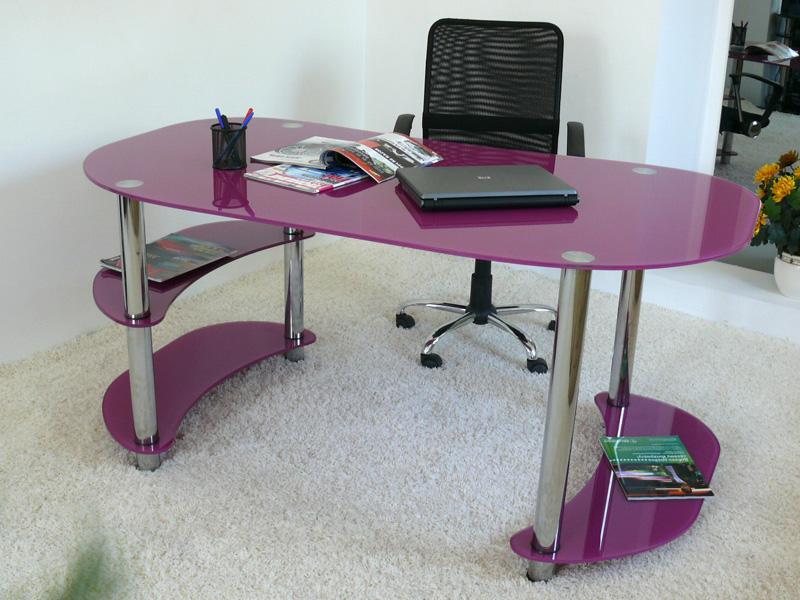 Компьютерный стол стеклянный