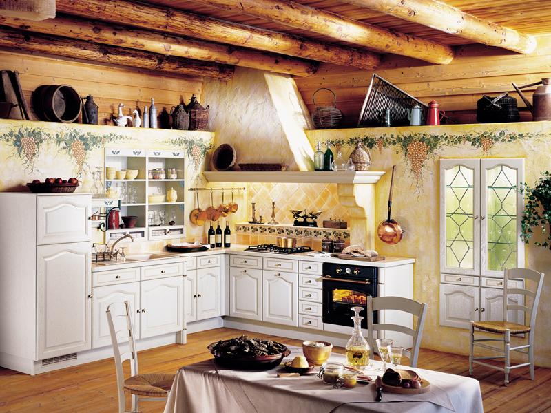 Дизайн кухни в стиле кантри. Фото интерьеров стиля кантри в кухне