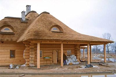 Необычная крыша из камыша