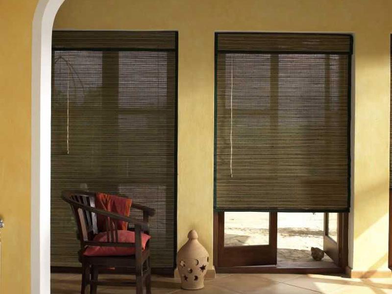 Бамбуковые шторы. 9 фотографий красивых штор из бамбука в интерьере