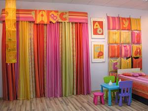 Цвет штор в детской