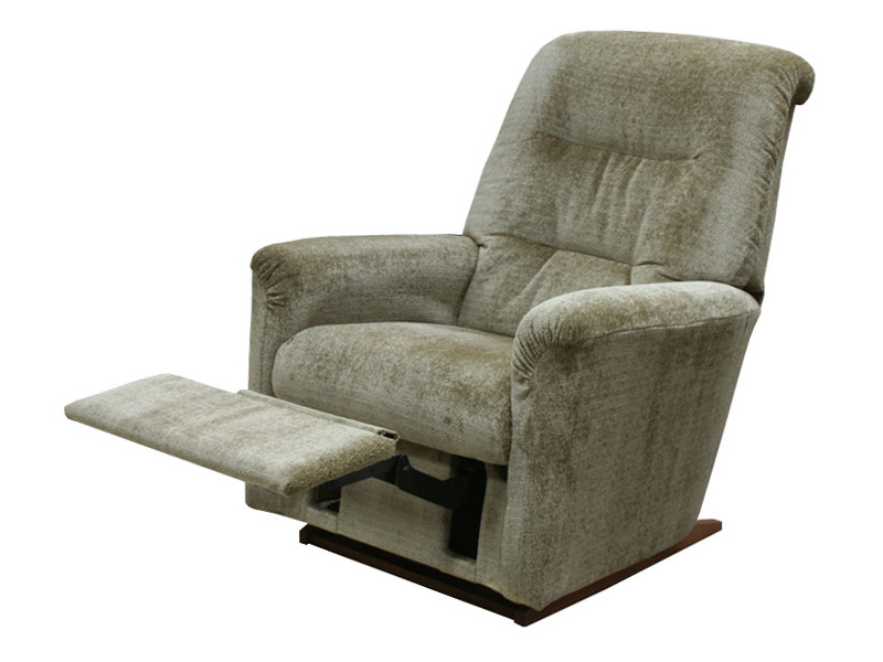 Необычное кресло-реклайнер серого цвета