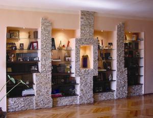 Декоративный камень в интерьере. Натуральный и искусственный облицовочный камень