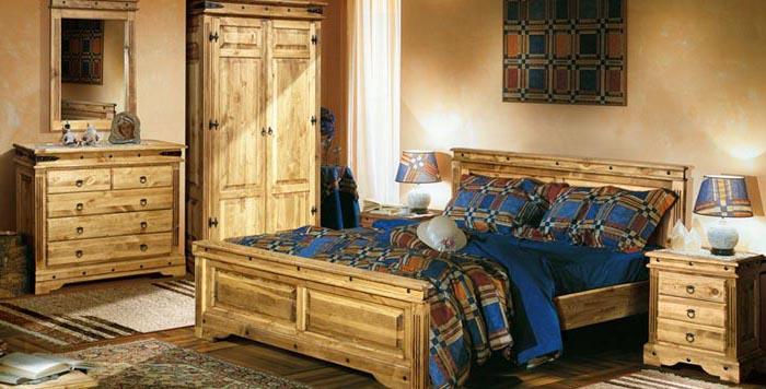 Спальня из соснового массива