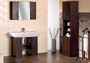 Обустройство ванной комнаты: мебель и акриловая ванна