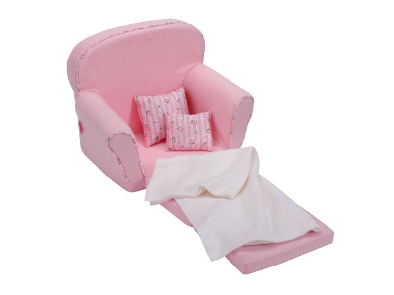 Розовое кресло-кровать