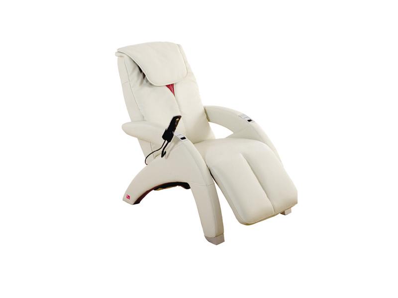 Белое массажное кресло
