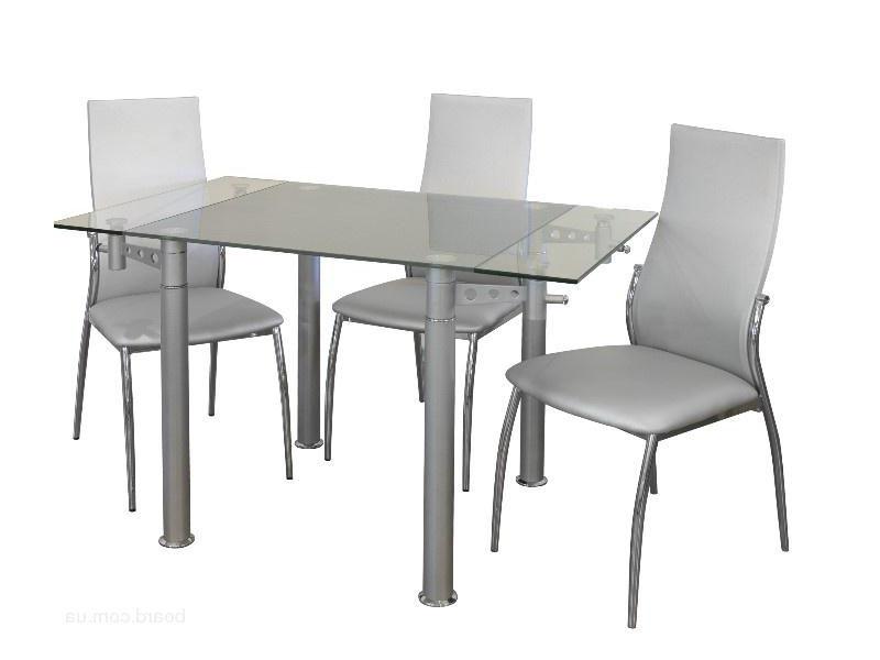 Раскладной кухонный стол из стекла