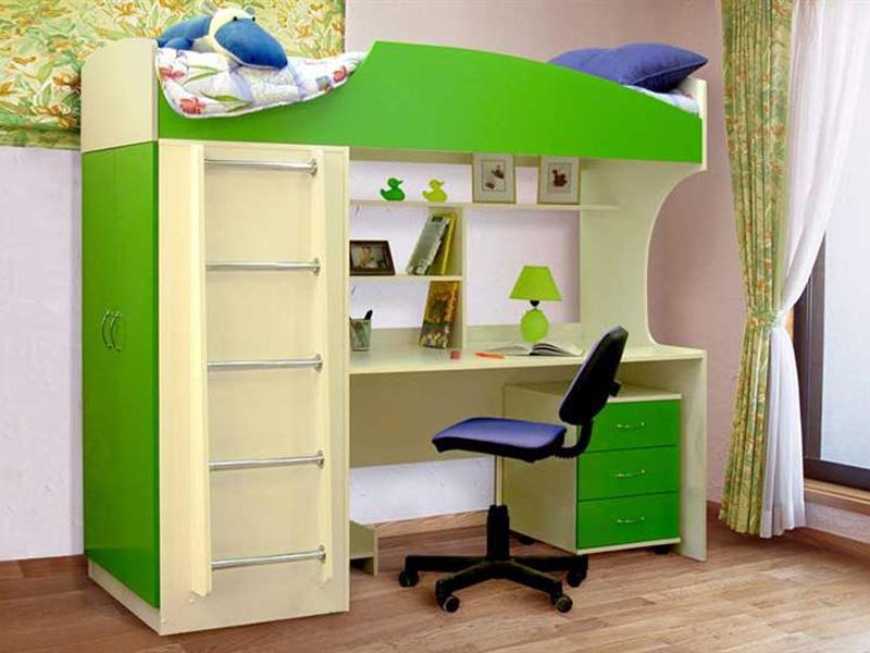 Кровать-чердак для ученика младших классов