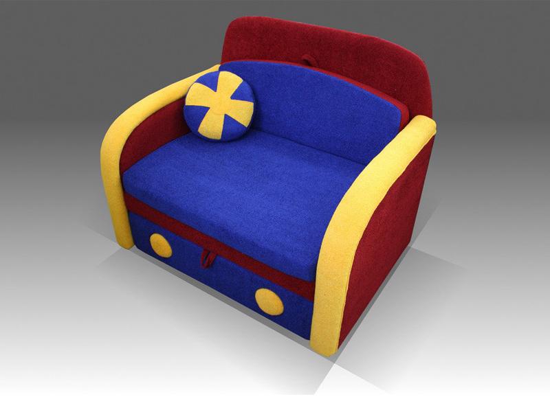 Яркое кресло-кровать