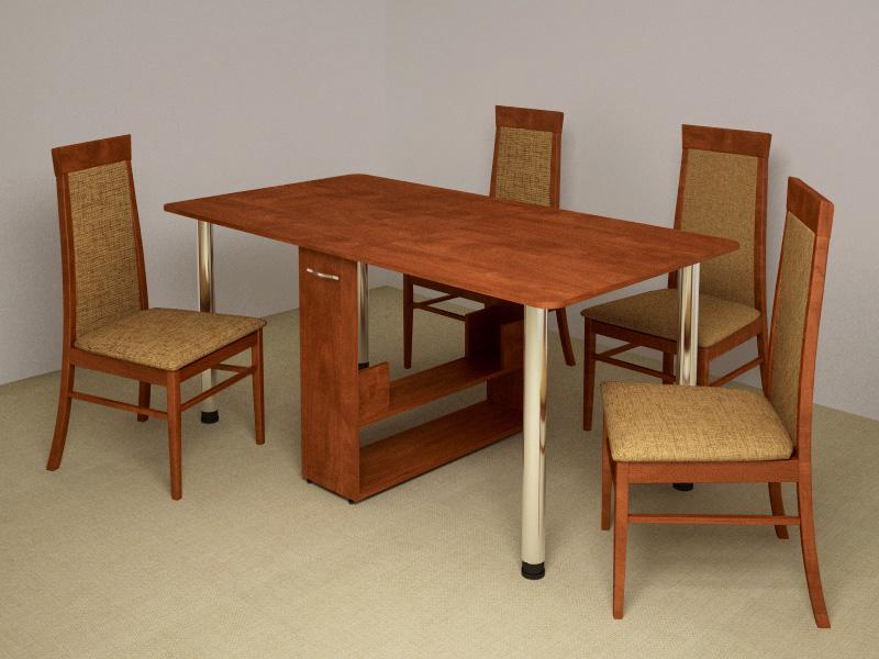 Раздвижной обеденный стол. 12 фото раздвижных столов для кухни