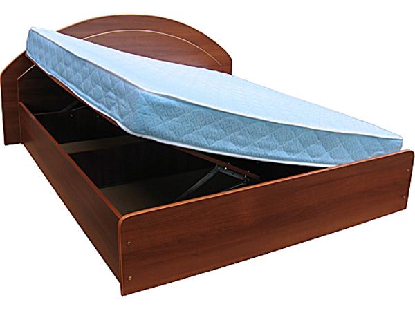 Простая кровать с подъемным механизмом