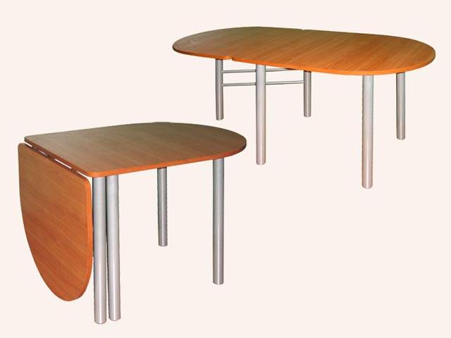 Простой овальный раскладной стол
