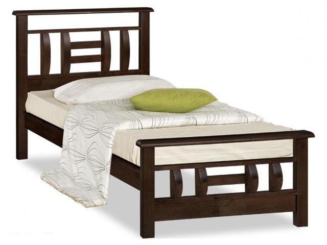 Односпальная кровать из массива древесины