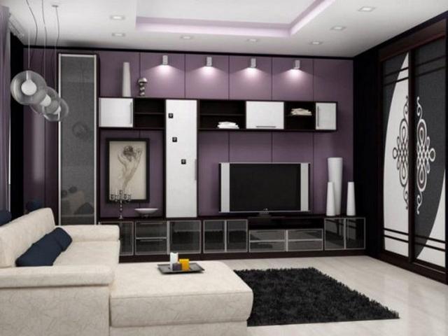 Черно-белая модульная гостиная