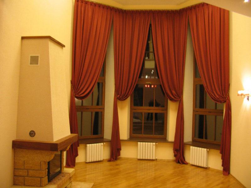 Шторы в интерьере гостиной, кухни, спальни. Фото штор в квартире