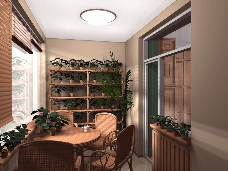 Дизайн лоджии в трехкомнатной квартире