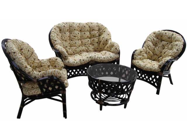 Комплект мягкой мебели на основе ротанга