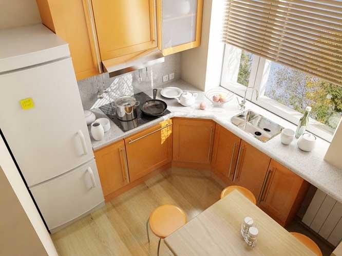 Интерьер маленьких кухонь в квартире. Фото интерьеров небольших кухонь