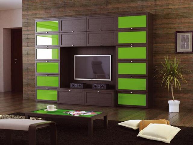 Модульная система с зелеными вставками