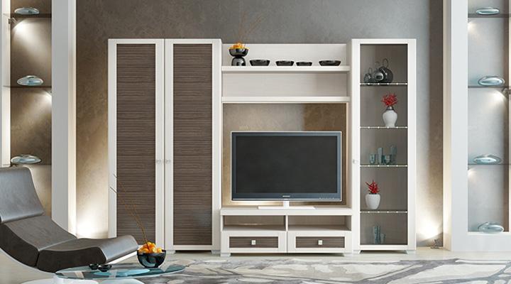 Бежево-коричневая мебель