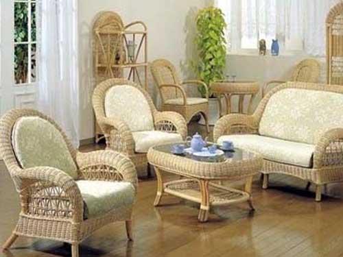 Интерьер с ротанговой мебелью