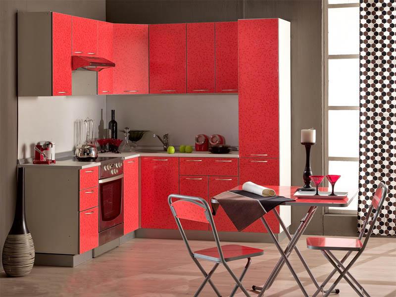 Кухня красных тонов