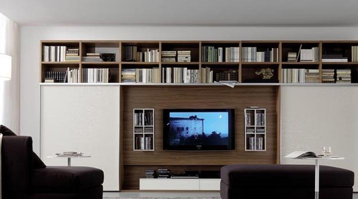 Модульная мебель для гостиной с полками