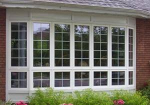 Большое окно со шпросами