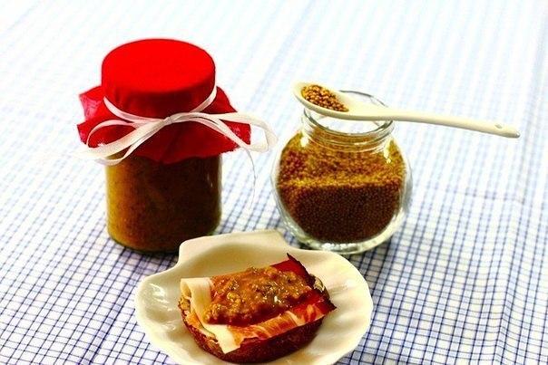 Домашняя острая горчица с коньяком и яблочным уксусом