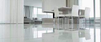 Гостиная-столовая в белых тонах