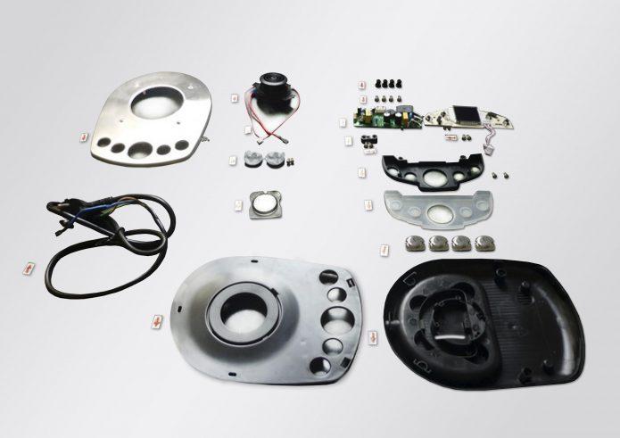 Составные элементы базы для электрического чайника Dauken DK 550