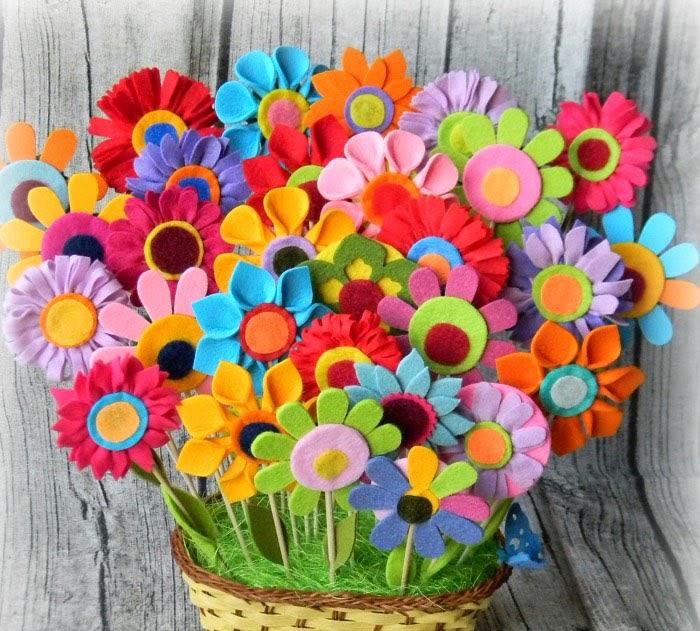 Цветы своими руками фетр