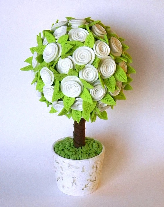 Топиарий Цветочное дерево из фетра