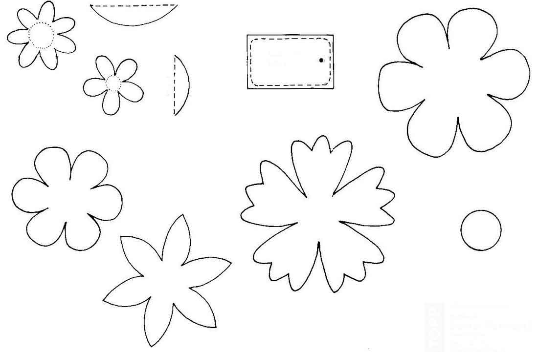 Цветы из бумаги своими руками схемы шаблоны детям