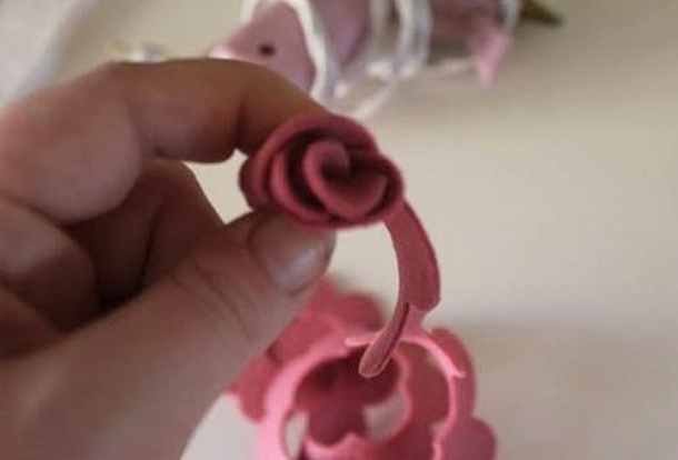 Мастер-класс по созданию розы из фетра. Шаг 2