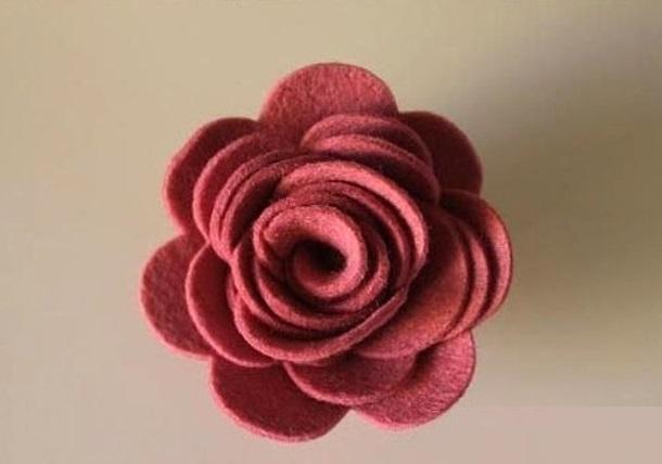 Мастер-класс по созданию розы из фетра. Шаг 5
