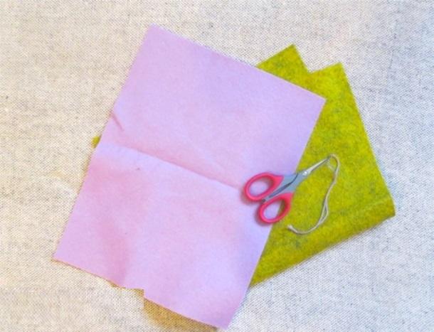 Необходимые материалы для создания фиалки из фетра