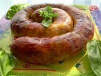 Рецепт Колбаса домашняя из свиного сердца с кровью
