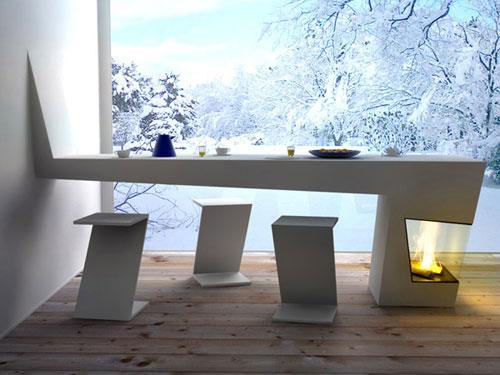Стол для кухни современный дизайн 10