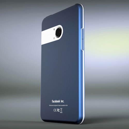 Синий телефон от Facebook