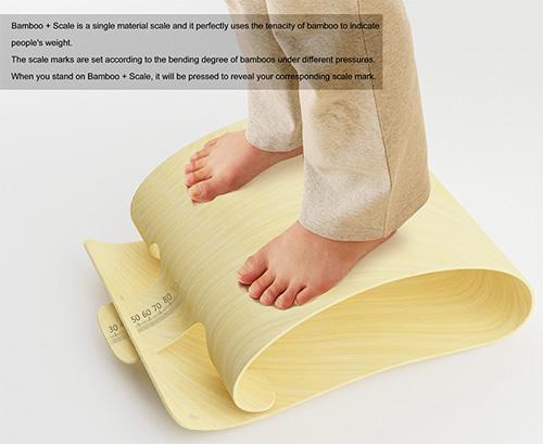 Весы из бамбука