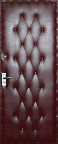 Обивке дверей дермантином своими руками